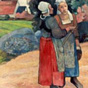 Gauguin: Breton Women, 1894 Poster