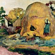 Gauguin: Haystacks, 1889 Poster