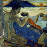 Gauguin: Pirogue, 19th C Poster