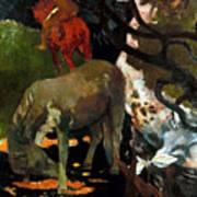 Gauguin: White Horse, 1898 Poster