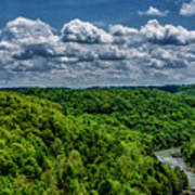 Gauley River Canyon And Clouds Poster
