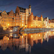 Gdansk By Night Poster