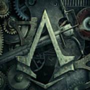 Gear Head Steampunk  Poster