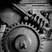 Gear In Monochrome Poster