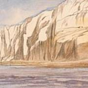 Gebel Abu Fodde By Edward Lear  1867 Poster