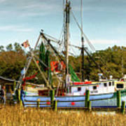 Geechie Seafood Shrimp Boats Poster