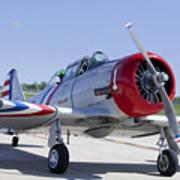 Geico Skytypers Snj-2 World War II-era Planes Poster
