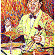 Gene Krupa The Drummer Poster by David Lloyd Glover