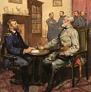 General Grant Meets Robert E Lee  Poster