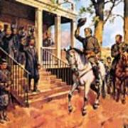 General Lee And His Horse 'traveller' Surrenders To General Grant By Mcconnell Poster