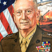 General Mattis Portrait Poster