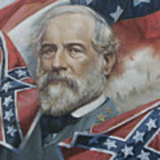 General Robert E Lee Poster by Linda Eades Blackburn