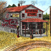General Store Poster by Mike OBrien
