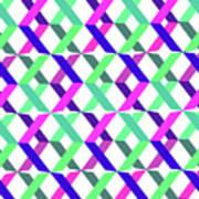 Geometric Crosses Poster