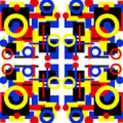 Geometric Shapes Abstract Square 2 Poster