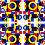 Geometric Shapes Abstract Square 3 Poster