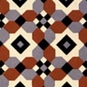 Geometric Textile Design Poster