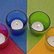 Geometrical Shapes, Colours And Candles Poster