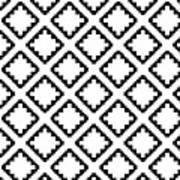 Geometricsquaresdiamondpattern Poster