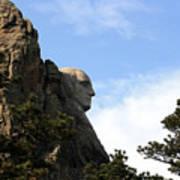 George At Mount Rushmore Poster