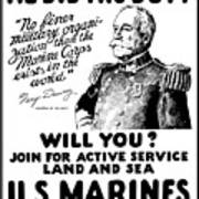 George Dewey - Us Marines Recruiting Poster