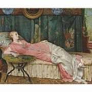 George Hamilton Barrable  Fl  1873  1887  Dolce Far Niente Poster