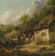 George Morland  The Bell Inn Poster