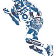 George Teague Minnesota Timberwolves Pixel Art 1 Poster