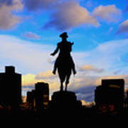 George Washington Statue Sunset - Boston Poster