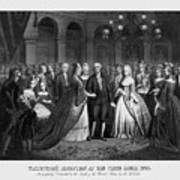 George Washington's Reception At White House - 1776  Poster