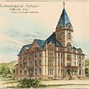 Georgia Technical School. Atlanta Georgia 1887 Poster by Bruce and Morgan