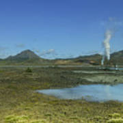 Geothermal Power Station Iceland  Poster
