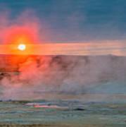 Geothermal Sunrise Poster