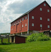 Historic German Bank Barn - Maryland Poster