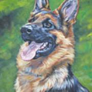 German Shepherd Head Study Poster