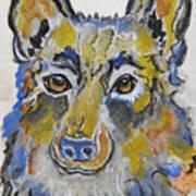 German Shepherd Painting Poster