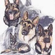 German Shepherd W/ghost Poster