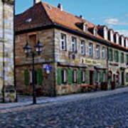 German Street Scene Poster