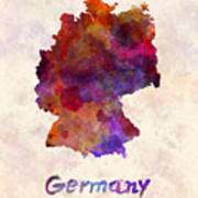 Germany In Watercolor Poster