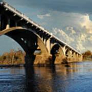 Gervais Street Bridge, Columbia, Sc Poster