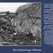 Gettysburg Address Civil War Devils Den Poster