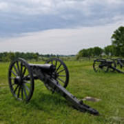 Gettysburg Battlefield Cannons Poster