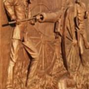 Gettysburg Bronze Relief Poster