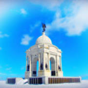Gettysburg Memorial In Winter Poster