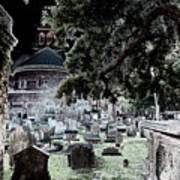 Ghostly Cemetary Poster