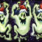 Ghostly Christmas Trio Poster