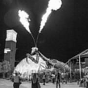 Giant Flamethrowing Praying Mantis Poster