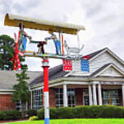 Giant Folk-art Weathervane 1 Poster