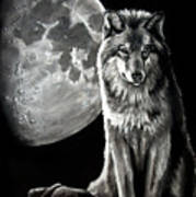 Gibbous Wolf Poster