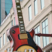 Gibson Les Paul Of The Hard Rock Cafe Poster